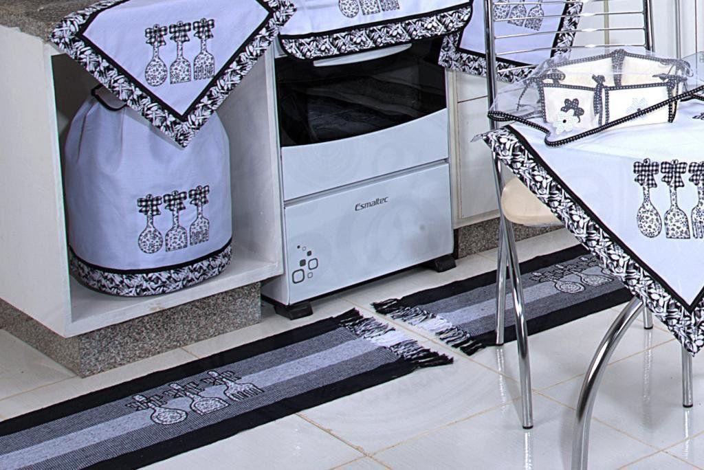 Itens para Cozinha em Patchwork - Talheres Pretos