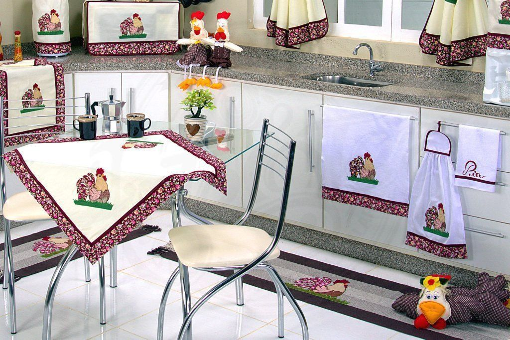 Itens para Cozinha em Patchwork - Galinha Ovos