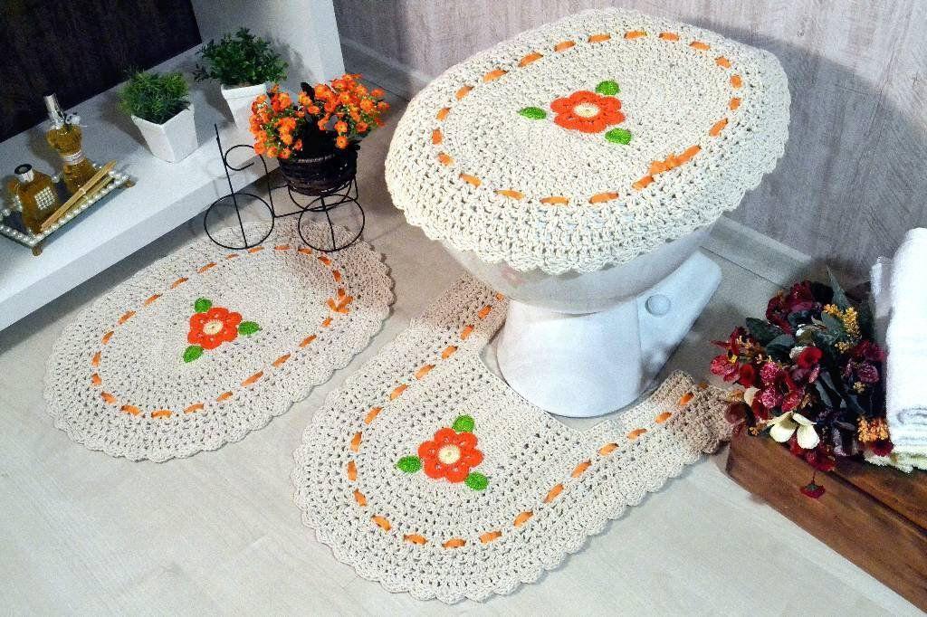Jogo de Banheiro de Crochê Lisandra