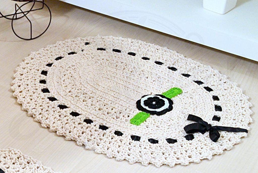 Jogo de Banheiro de Crochê Rosane
