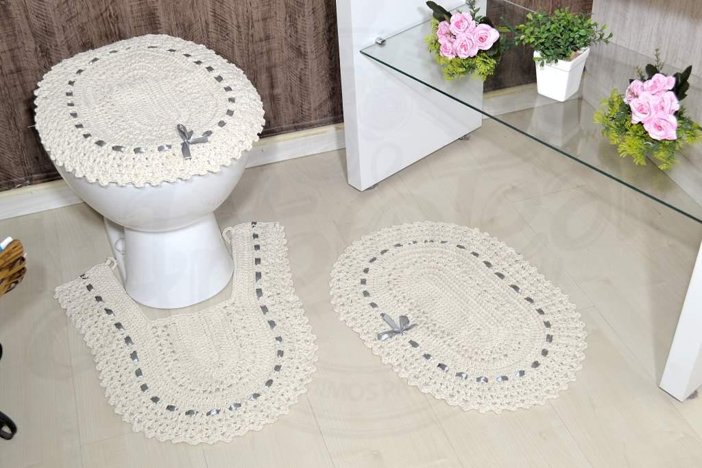 Jogo de Banheiro de Crochê Lia