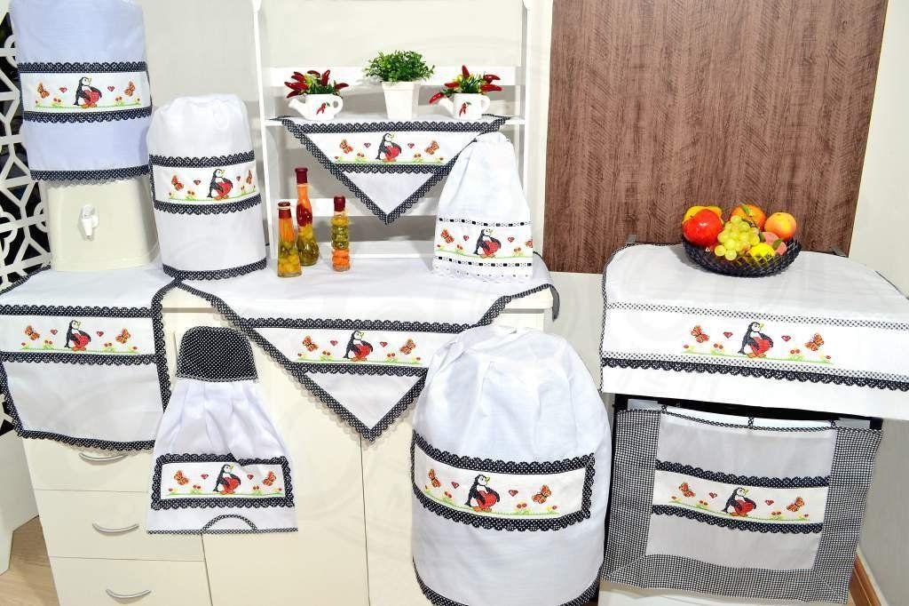 Itens para Cozinha em Ponto Cruz - Pinguim