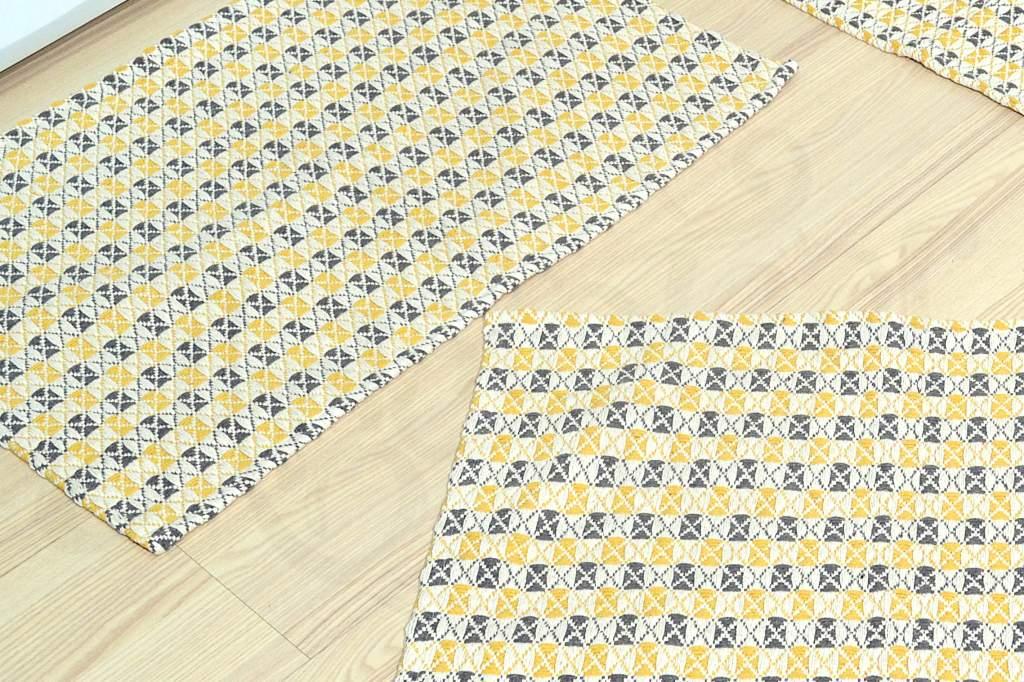 Jogo de Passadeira Asteca - Marrom e Amarelo