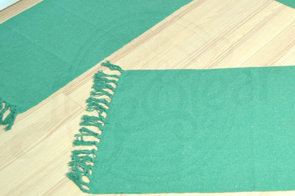Jogo de Passadeira de Tear Liso - Verde