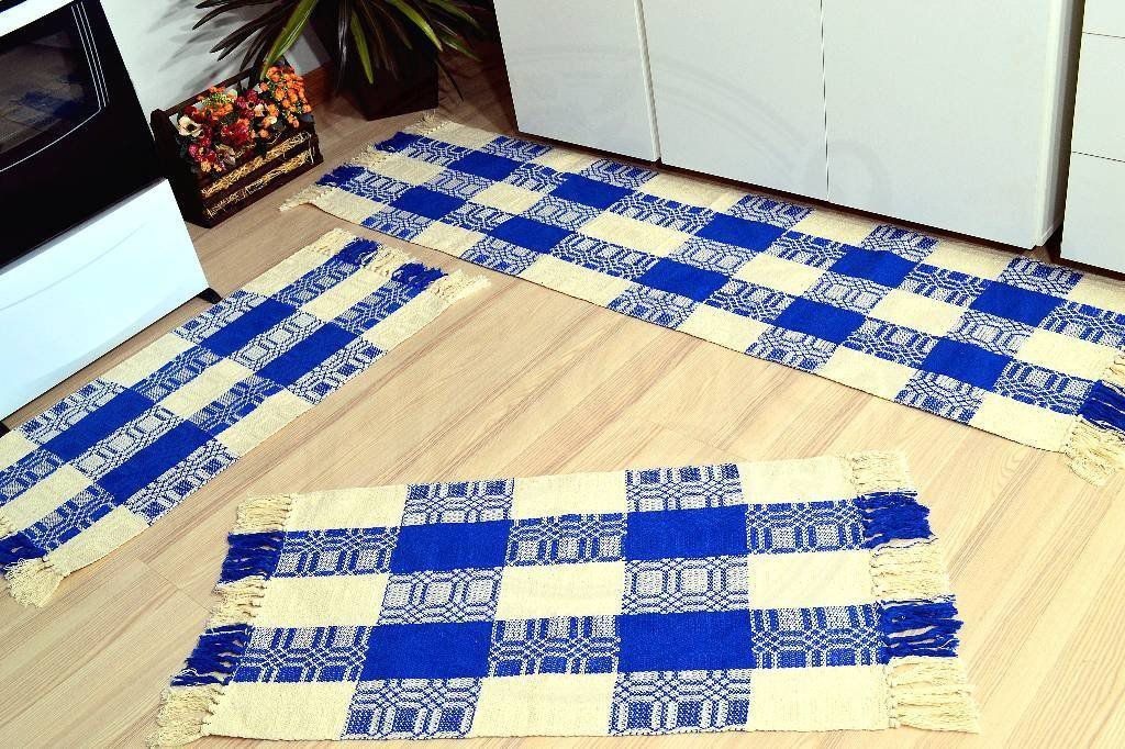 Jogo de Passadeira em Relevo - Xadrez Azul