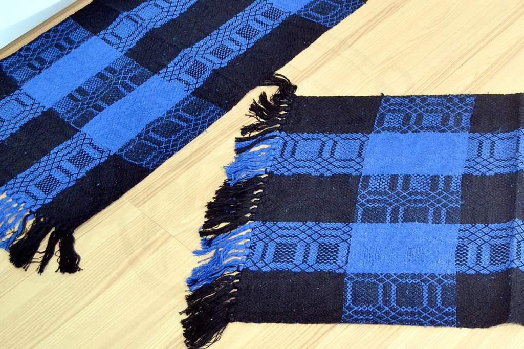 Jogo de Passadeira em Relevo - Preto e Azul