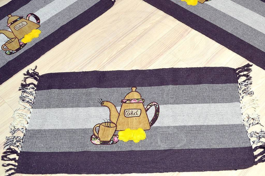 Jogo de Passadeira Patchwork - Bule Marrom