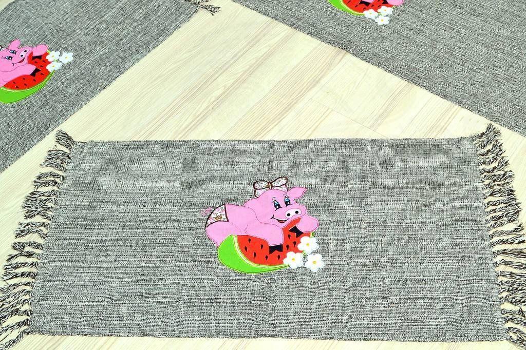 Jogo de Passadeira Patchwork - Porquinha