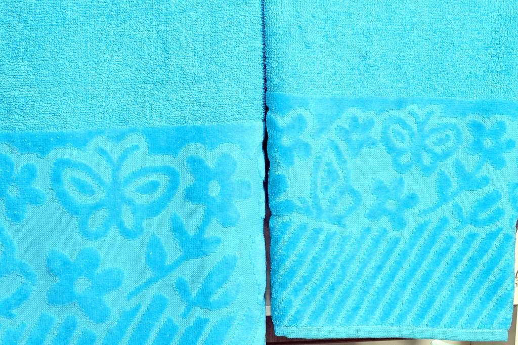 Jogo de Toalhas 2 Peças Jasmim - Azul
