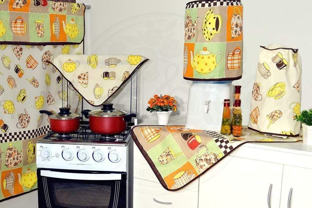 Jogo para Cozinha 6 peças - Tema Café Quentinho em Oxford