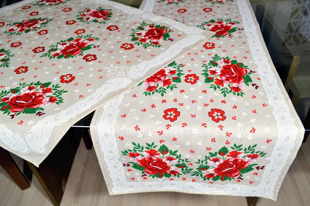 kit de Cozinha 2 Peças -  Rosas Vermelhas