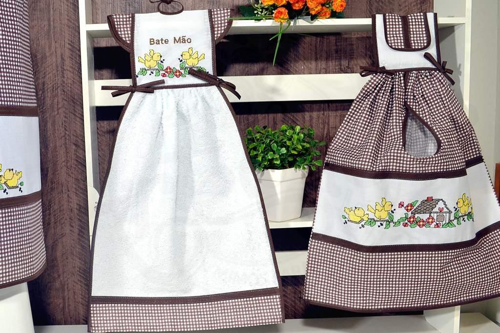 kit de Cozinha 3 Peças - Casinha Marrom
