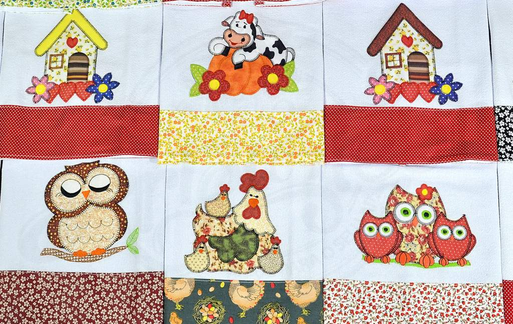 Kit  Pano de Pratos com 15 pçs - Patchwork