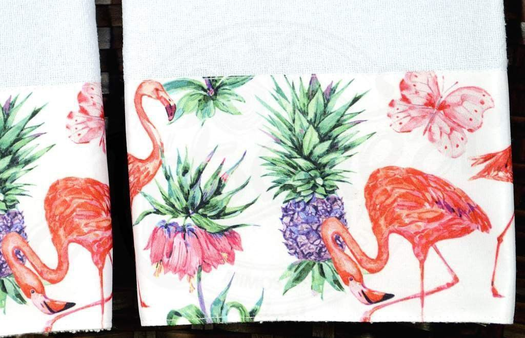 Kit Pano de Pratos com 2 peças - Flamingos
