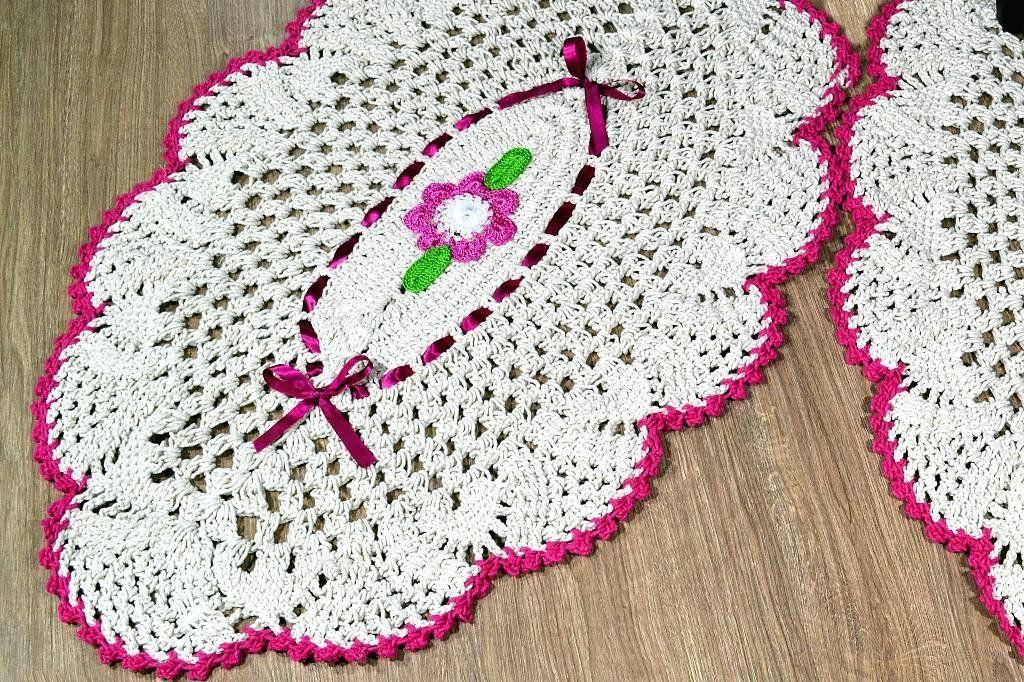 Par de Tapetes Formato Abacaxi - com Pink