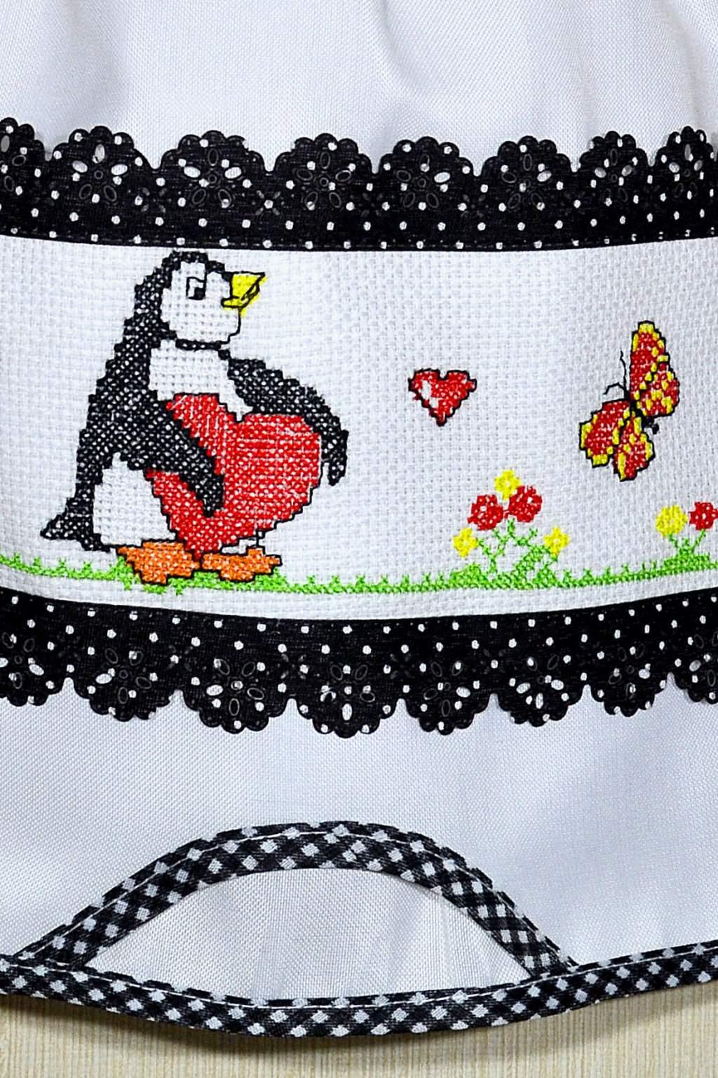 Puxa Saco Branco Bordado - Pinguin