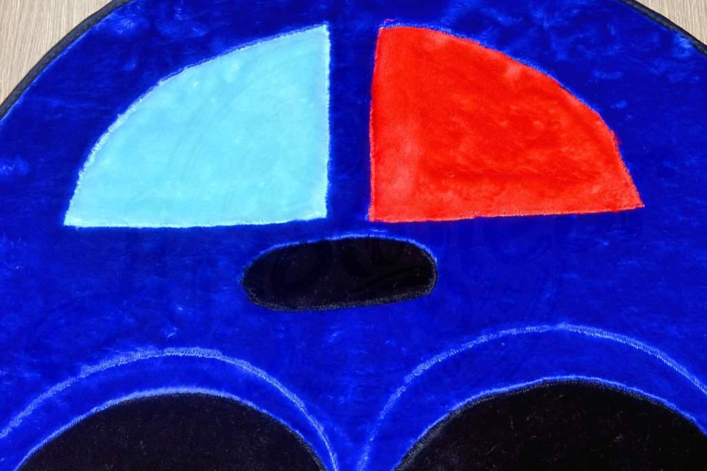 Tapete de Pelúcia Infantil - Fusca Azul Marinho