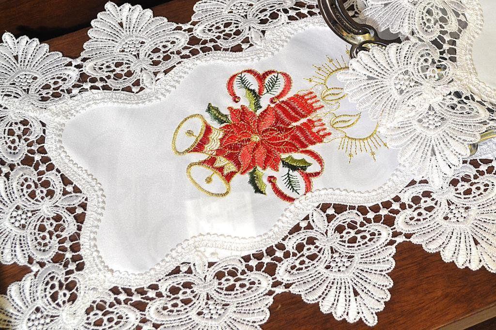Toalha de Bandeja Branco Velas