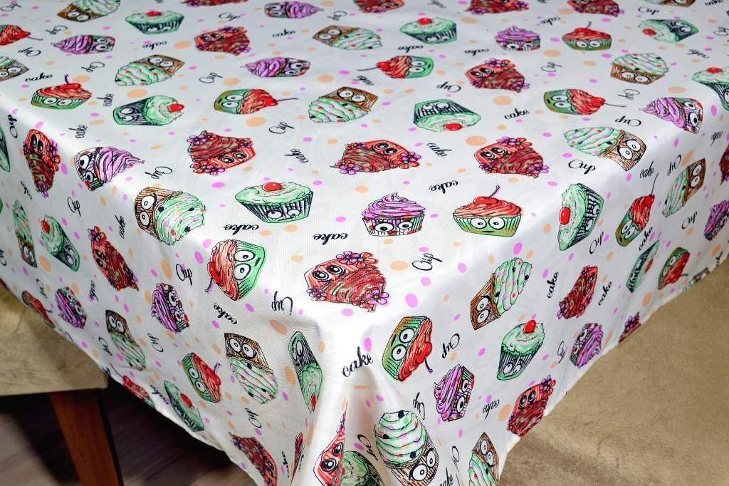 Toalha de Mesa Oxford - Cup Cakes