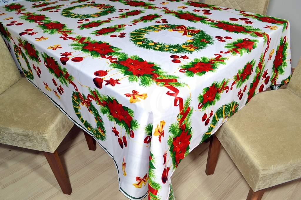 Toalha de Mesa Oxford Natal  - Enfeites de Natal