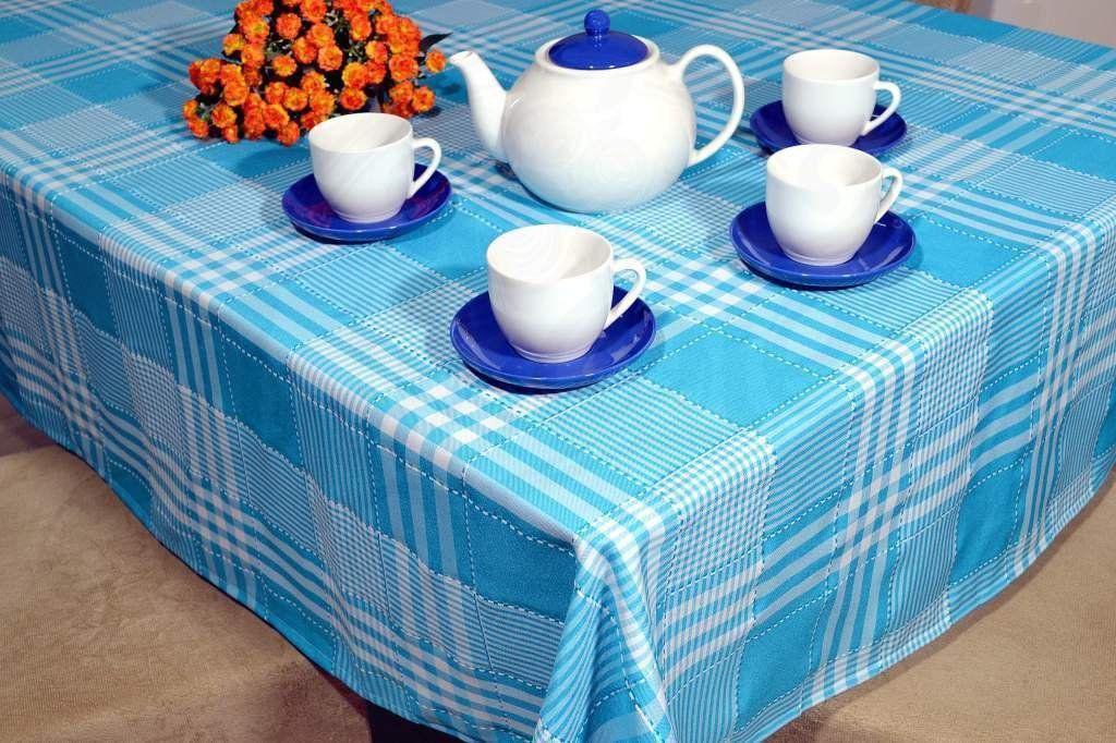 Toalha de Mesa Picnic - Azul Listras
