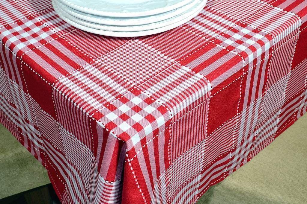Toalha de Mesa Picnic - Vermelho Listras