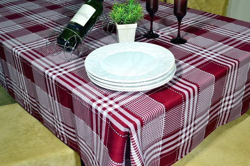 Toalha de Mesa Picnic - Vinho Listras