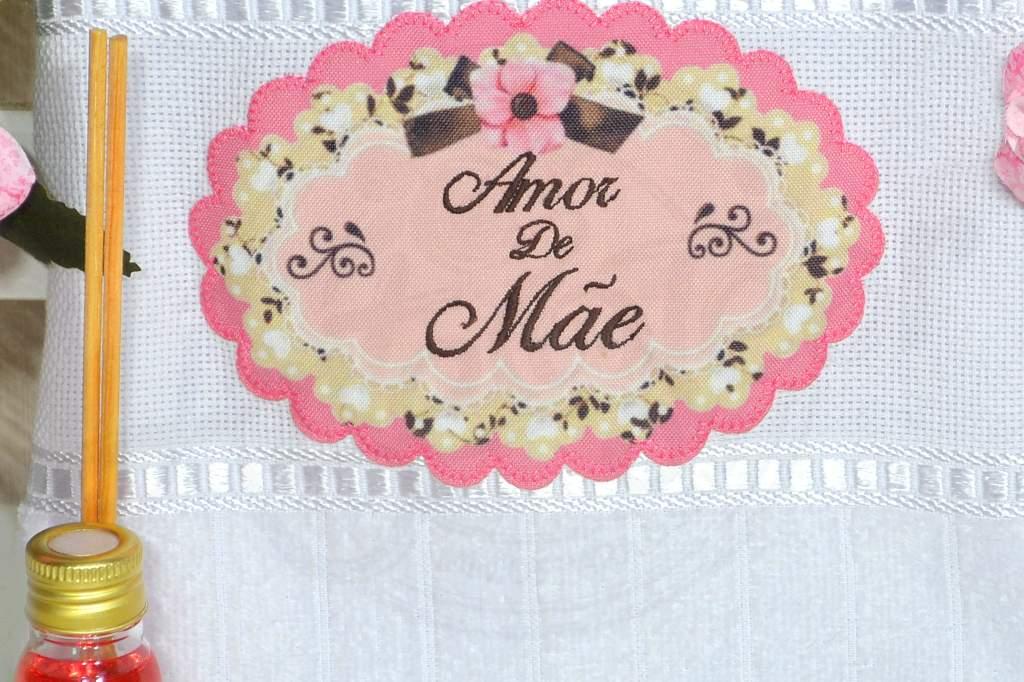 Toalha de Rosto e Aromatizante - Amor de Mãe