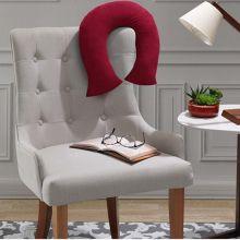 Travesseiro de Pescoço Camurça Vermelho - Hedrons