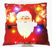 Capa para Almofada Aveludada Natal LED Papai Noel 1 - Rozac
