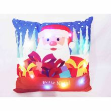Capa para Almofada Aveludada Natal LED Presentes de Natal - Rozac
