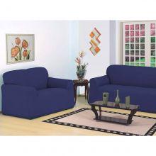 Capa para sofá 2 e 3 lugares Belíssima tamanho Único Azul Royal - Jersey Bras