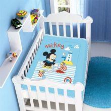 Cobertor Infantil Disney Baby Raschel Mickey Barquinho/Azul - Jolitex
