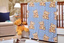 Cobertor Microfibra Toque de Seda Baby Flannel Tricot Azul - Etruria