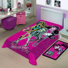 Cobertor Raschel Solteiro Monster High - Jolitex