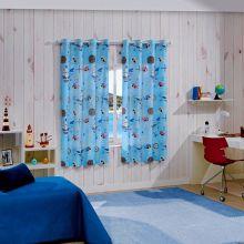 Cortina Infantil Colorê 2,00m x 1,80m Caribe - Bella Janela