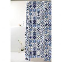 Cortina para Box De Banheiro Poliéster Azul Antigo - Bella Casa