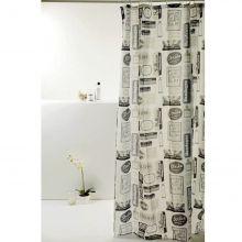 Cortina para Box De Banheiro Poliéster Wash Away- Bella Casa