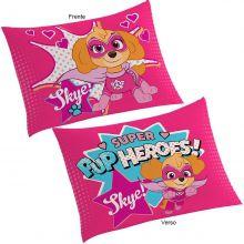 Fronha Infantil para Travesseiro Patrulha Canina Rosa - Lepper