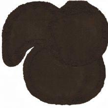 Jogo tapetes para Banheiro 3 Peças Soft Liso Marrom - Tapetes Miriam
