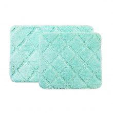 Jogo de Tapete para Banheiro 2 Peças Soft Clean Verde - Bella Casa
