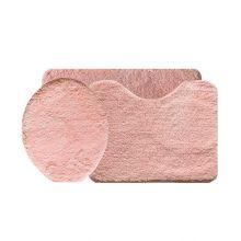 Jogo de Tapete Soft Color Para Banheiro 3 Peças Salmão- Bella Casa