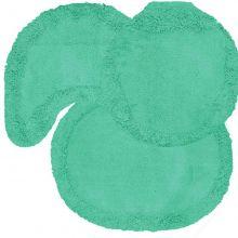 Jogo tapetes para Banheiro 3 Peças Soft Liso Verde Água - Tapetes Miriam