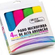 Kit 4 Panos de Microfibra de Alta Absorção - Jolitex Ternille