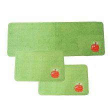 Kit de Tapetes para Cozinha 3 Peças Patchwork Verde Claro / Maçâ - Tapetes Miriam