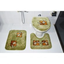 Kit Tapete para Banheiro 3 Peças Verde Royal Luxury - Rayaza