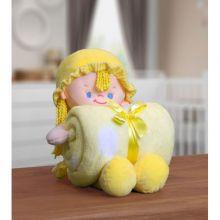 Manta Baby com Boneca de Pelúcia Nanny Amarela - Bouton
