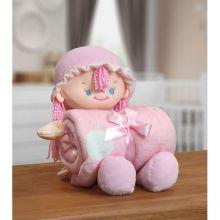 Manta Baby com Boneca de Pelúcia Nanny Rosa - Bouton