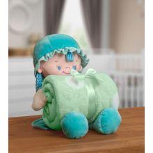 Manta Baby com Boneca de Pelúcia Nanny Verde - Bouton