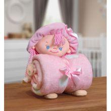 Manta Baby com Boneca de Pelúcia Puppy Rosa - Bouton